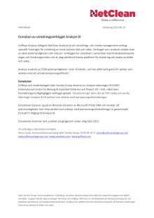 Faktablad - Donation av utredningsverktyget Analyze DI