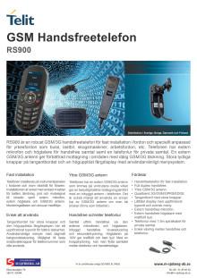 Telit RoadStar RS900 produktblad