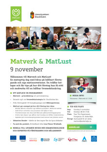 Inbjudan Matverk och MatLust 9 november