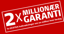 Lottopulje vokser til 25 millioner - Millionærgarantien udtrukket i Ulfborg og Glostrup