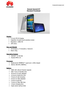 Ascend G7 Fact Sheet