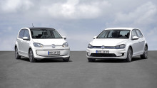 Volkswagen electrifies high volume production with world debuts of e-Golf and e-up! at Frankfurt