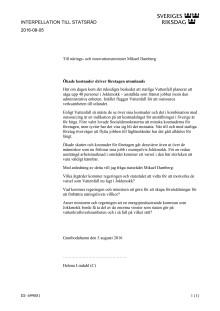 Interpellation till Mikael Damberg