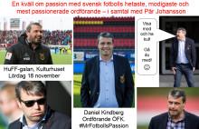 HuFF-galan 2017! ÖFK-ordföranden, Daniel Kindberg i samtal med Pär Johansson. Lördag 18 november!