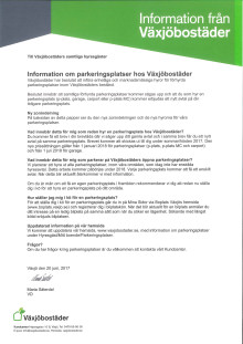 2017-06-20 Brev till Växjöbostäders hyresgäster