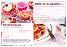Muffins med blåbär, Plättar med blåbärskvarg