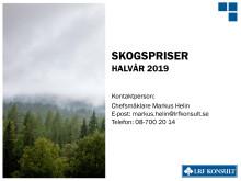 Skogsmarkspriser - halvår 2019