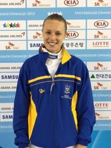 Kungsbackafäktaren Emma Väggö bra med till 16-delsfinal på Universiaden - studentidrottens motsvarighet till ett olympiskt spel