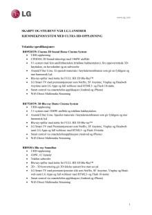 Tekniske spesifikasjoner AV UHD