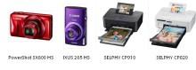 Forevige, skap og del spesielle minner med Canons PowerShot SX600 HS,  IXUS 265 HS, SELPHY CP910 og  SELPHY CP820