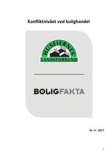 Boligfakta-rapport om konfliktnivået ved bolighandel