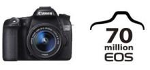Canon firar produktion av 70 miljoner EOS kameror