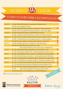 Program för Kulturtältet vid Sveaplan