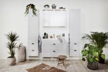 Shabby chic och lantlig romantik i ny badrumssatsning från Skånska Byggvaror