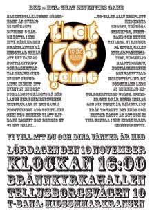 That 70´s game - Basketklubben BK Söderhamn anordnar en seriematch helt i 70-talstappning