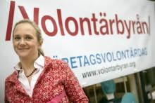 Amelie Silfverstolpe  diskuterar näringsliv och ideellt engagemang på Almedalen