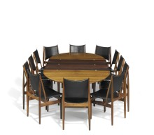 Finn Juhl's Dining Room Set Sold for Over a Million Danish Kroner