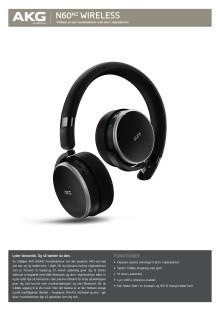 Specification Sheet AKG N60 NC Wireless