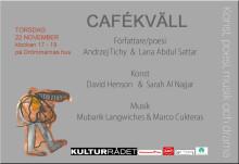 Cafékväll med spännande namn i kulturens tecken, på Drömmarnas hus