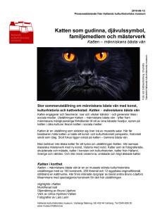 Pressmeddelande - Katten – människans bästa vän
