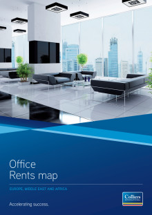 Colliers EMEA Office Rents Map hösten 2012