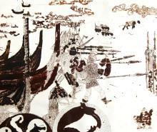 Kunstudstilling på Trelleborg om vikingernes blodige nederlag i Irland