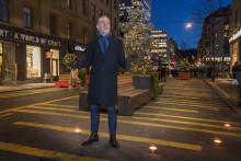 """""""Levande Stockholm Vinter""""  invigt på Norrtullsgatan"""