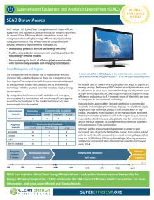SEAD Display awards fact sheet