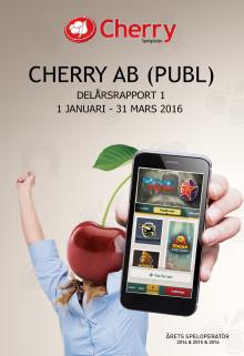 Cherry: Delårsrapport 1 2016, 1 januari - 31 mars 2016