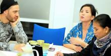Övning ger färdighet på Eductus språkcafé