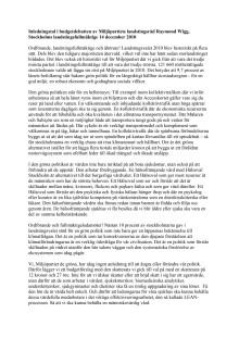Inledningstal i landstingets budgetdebatt 2010