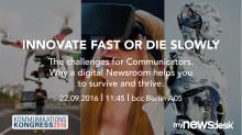 Überleben und Erfolg in der neuen Ära: Expert Session auf dem Kommunikationskongress