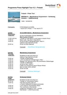 Pressresa till Nordtyskland 18-22 maj 2016