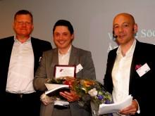 """Thomas Jönsson, REHIFI.se, är """"Årets Unga Entreprenör""""  och Daniel Spasic, TFS Trial Form Support, är """"Årets Grundare"""""""