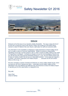 Airport Safety Newsletter issue 1