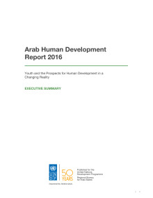 Arabiska Human Development Report 2016 - sammanfattning