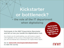 Kickstarter or bottleneck? NNIT Expectation Barometer