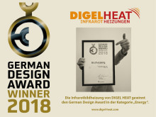German Design Award für die DIGEL HEAT Bildinfrarotheizung