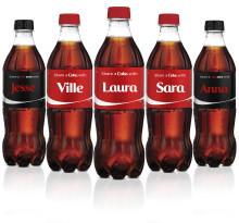 Coca-Cola tutki: etunimellä on merkitystä Suomessa
