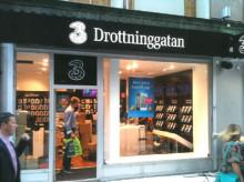 Mobiloperatören 3 öppnar två nya butiker i Stockholm