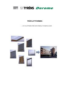"""Rapport """"Träplattformen - en plattform för industriellt träbyggande""""."""
