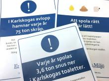Informativa klisterdekaler ska värna om Karlskogas vatten