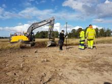Arkeologiska undersökningar nu även i Ekeby