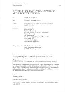 Information budgetförslag