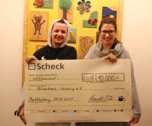 Krawallbär spendet 10.000 Euro an das Kinderhospiz Bärenherz