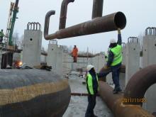 Rörpussel i pressad pumpstation