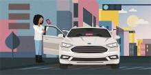 Kooperation zwischen Ford und dem Fahrdienstvermittler Lyft