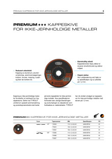 Tyrolit produktinfo kappeskive aluminium 1,2 mm