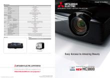 Broschyr på HC3800 hemmabioprojektor från Mitsubishi Electric
