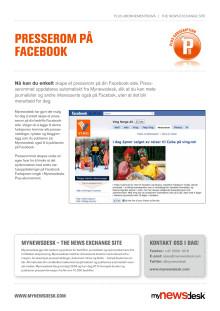 Produktblad: Presserom på Facebook